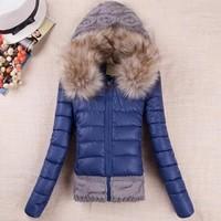 2014 winter coat women thick hood short wadded jacket warm coat large fur down jacket cotton-padded coat women jacket PH2062