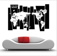 75*105cm world map wall art stickers home decoration for kids rooms adesivos paple de parede infantil house decorativo wallpaper