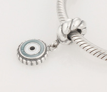 Fits Pandora Charms Bracelets 925 Sterling Silver Mixed Enamel Watchful Eye Dangle Bead Jewelry Charm Bracelets & Necklace