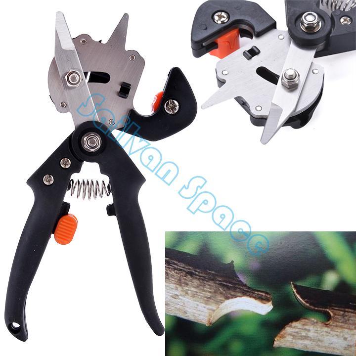 New Hot Sale!! Garden Fruit Tree Pro Pruning Shears Scissor Grafting cutting Tool + 2 Blade 35(China (Mainland))
