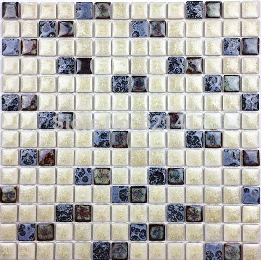 Arroz branco e vermelho escuro Furnace Transmutação Ceramic Mosaic Tiles Para Cozinha Backsplash Quarto de chuveiro de jantar parede azulejo(China (Mainland))