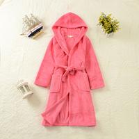 Kid Robe Unisex Children winter coral fleece robe bathrobe boys and girls thick warm pajamas bathrobe hooded tracksuit Hot Sale