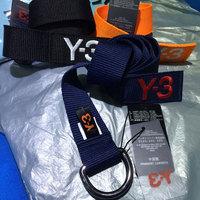 Fashion canvas belt Y-3 brand men's belt original S M L XL 101cm-131cm blue orange yellow high quality sport ceinture