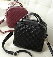 Sales promotion 2014 fashion women leather handbag vintage paild women messenger bag shoulder bag high quality pu leather bag