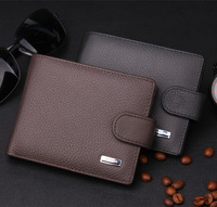 2014 New Designer's 100% Genuine leather men's wallet,top purse for male,quality guarantee coin purse Free Shipping