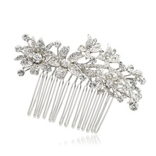 Free Shipping Fabulous Clear Rhinestone Crystal Comb Hair Accessories for Wedding Bridal Banquet 2256R