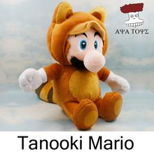 Super Mario Bros Plush Toys 10'' 25cm Raccoon Kitsune Tanooki Mario Soft Stuffed Plush Doll Baby Toy Cartoon Gift Fox Luigi(China (Mainland))