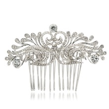 Free Shipping New Clear Rhinestone Crystal Comb Hair Accessories for Wedding Bridal Banquet 2262R