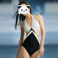 New Arrival 2014 Sexy Women Bikinis Bandage Bra Padded Bikini Strap Halter Swimwear Brand Womens Swimsuit Big Size S-XXXL