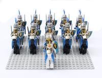 22pcs Lion Knights Cavalryman A figurewith weapon horse compatible Building Block doll, Knight Brick mini figure