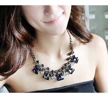 Artificial gemstone jewelry luxury choker necklace women accessories/european statement necklaces/bijoux/collier/colares/atacado