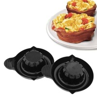 Perfect Bacon Bowl Salad Bowl Microwave Oven Cooking Kitchen Household Tools 2 Units