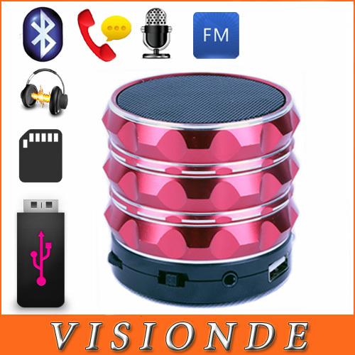 S10 Bluetooth Speaker Mini USB Flash Disk Sound Card Multi-Function Aluminum Portable Wileress Speaker With FM Radio MP3 Player(China (Mainland))