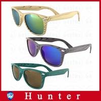 2014 New Imitation Wood Sunglasses Plastic Frame Revo Coating Wayfarer oculos de sol masculino Bamboo Pattern Glasses ESWD4002A