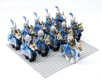 11pcs Lion Knight Cavalryman B Minifigure Building Block minifig,Castle Brick accessory compatible with lego mini figures