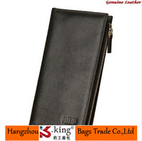 B.King Famous Brand Wallets Men 2014 Luxury Genuine Leather Long Wallets Men With Silm , Carteiras Mulheres With Zipper Pocket