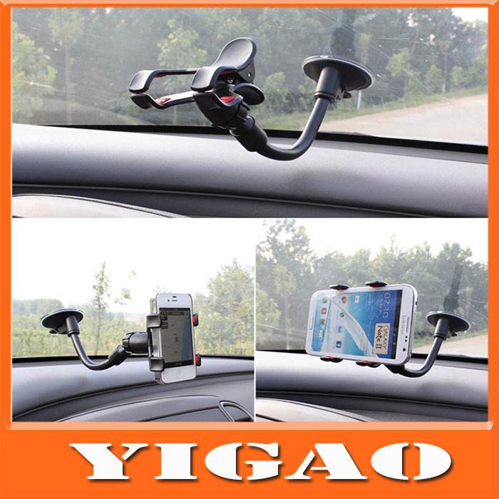 NEW 2014 Universal Rotating 360 mobile Phone Car Holder Windshield Mount Bracket for Iphone 5 5c samsung Note 3 Holder(China (Mainland))