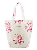 2014 women canvas bag shopping bag fashion rose canvas shoulder bag environment-friendly bag free shipping