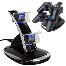 LED Dual USB Charging Charger Dock Docking Cradle Station Stand for Sony Playstation 4 PS4 Game Gaming Controller Charger(China (Mainland))