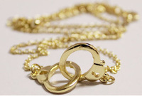 Fashion vintage silver/gold color handcuff pendant chain necklace for women jewelry  free shipping