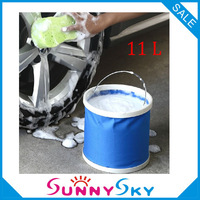 Free Shipping 11L Folding bucket car wash car bucket outdoor portable fishing bucket retractable car wash supplies accessories