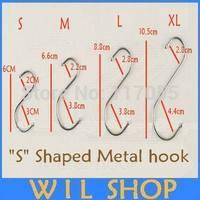 Free shipping 20pcs (1 bag/5 pieces for 5 bag 4 size) Hooks Kitchen Pot Pan Hanging Hanger Rack Clothes Storage Holder Organize