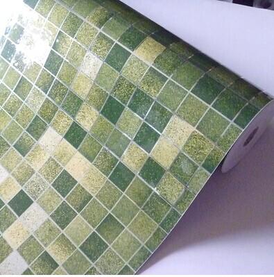 kitchen Pvc aluminum foil mosaic stickers oil wallpaper wall stickers bathroom mirror waterproof wall sticker(China (Mainland))