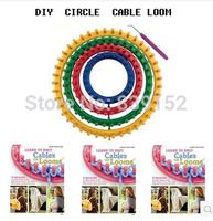 2014 New  DIY Plastic Circle Knitting Loom  Set Hat Yarn knit Knitter Weaving Machine Children Round Knitting Loom Free shipping