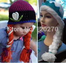 Pattern-Crocheted-Hat-Baby-Girls-Queen-Elsa-Princess-Anna-Knit-Hat