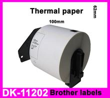 5x Rolls Brother Compatible Labels DK-11202, 62 x 100mm, 300 labels per roll, DK 1202