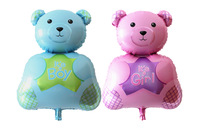 20pcs/lot  Cartoon Aluminum Classic Toy Happy Birthday Decoration Bear Balloon for Party Supplies Foil Ballon
