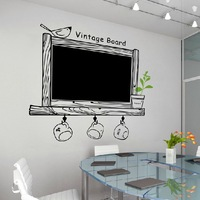 Kitchen Chalkboard Decal Decor Blackboard Removable Waterproof Vinyl Chalkboard Wall Sticker 62CM*67CM,  Free Shipping