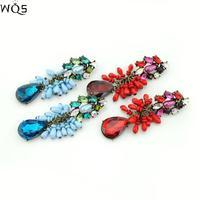 2014 Fashion New Design Jewelry Zinc Alloy Crystal Alloy Acrylic Resin Charm Earring