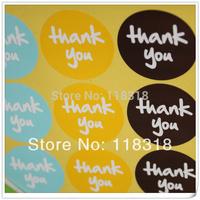 (1 Lot =180 Pcs) 3.8*3.8 CM DIY Scrapbooking Paper Thank You Labels Envelopes Stickers handmade Seals Sticker