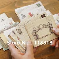 (1 Lot =4 Sets=48 Pcs) DIY Scrapbooking Paper Envelopes Vintage Mini Envelope Color Envelopes