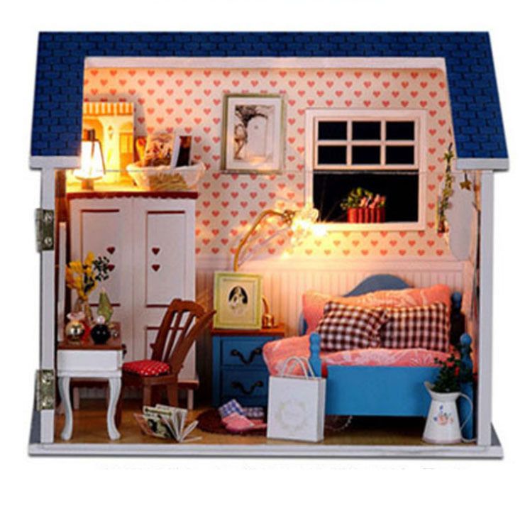 Doll House Model Building Kits Handmade Miniature With Light And Furniture Wooden Dollhouse Toy Christmas Birthday Greative Gift(China (Mainland))