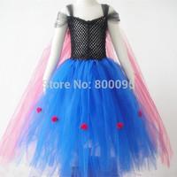 Hot selling beautiful frozen dress elsa costumes girls princess dresses frozen tutu dress  KP-FTU004