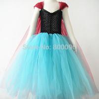 Hot selling frozen elsa princess dresses fashion frozen tutu dress wholesale kids clothing  KP-FTU001