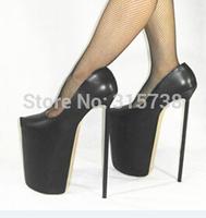 Free shipping by DHL,New Arrival black matt PU shoes woman high heels 30CM Pumps,BDSM sexy pumps