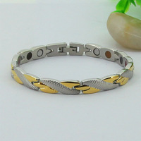 38 Jewelry Brand 7 mm Statement 24k Gold Filled 5 in 1 Stainless Steel Bracelet