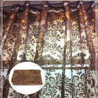 Home Decorative Coffee Prints Sheer Voile Window Panel Drape Curtain 210x140cm