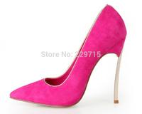 2014 New arrival hot sale casade women pumps brand women metal high heels fashion women shoes size 35-41