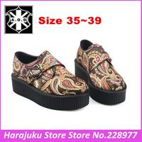 5 cm Heels EUR 35~39 AOD 2014 Fashion Flower Goth Punk Creepers For Women Platform Comfortable College British shoes