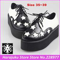 5 cm Heels EUR 35~39 AOD 2014 Autumn Fashion Goth Punk Creepers Shoes Woman Platform Comfortable College British shoes