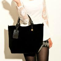 2014 EuropeStyle Faux Suede Handbag Designer Brand Women Shoulder Tote Bag High Quality Female Bags