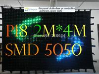 P18 2M*4M  smd5050led 242pces leds video curtain,30programs DMX controller