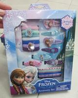 Hot New Arrival 1 box Cartoon Princess Frozen Anna elsa Headwear / hair clips/ Hair sticks / Hair Bands