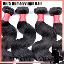Ms lula store Virgin maylasian hair body wave 4pcs lot  wowigs virgin hair Tissage bresilienne  Natural black hair No tangle(China (Mainland))