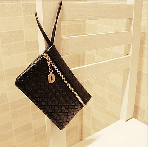 british black plaid handbag embossed hotsale women vintage mini leather bag brand ladies small wedding clutch bags party purse(China (Mainland))