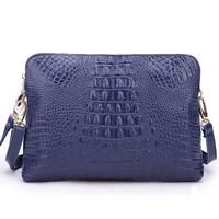 2014 new crocodile pattern leather handbags leather clutch large capacity shoulder messenger bag L2168